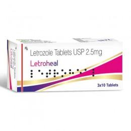 Летрозол Healing Pharma Letroheal 30 таблеток (1таб 2.5 мг)