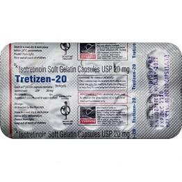 Роаккутан TRETIZEN-20 (изотретиноин) 10 таблеток 20 мг