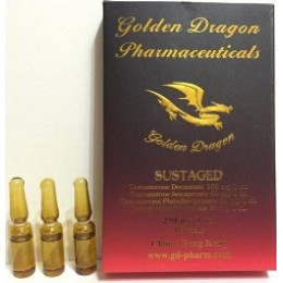 Сустанон (Sustaged) Golden Dragon 10 ампул по 1 мл (1 амп 250 мг)