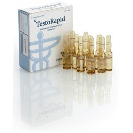 TestoRapid (Тестостерон пропионат) Alpha Pharma 10 ампул по 1 мл (100 мг/1 мл)