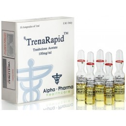 Тренболон ацетат (TrenaRapid) Alpha Pharma 10 ампул по 1 мл (1 амп 100 мг)