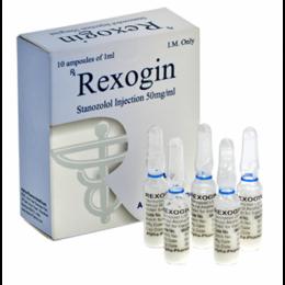 Rexogin (Станозолол, Винстрол) Alpha Pharma 10 ампул по 1 мл (1 амп 50 мг)