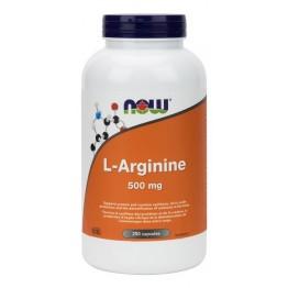 Аргинин Now L-Arginine 500 мг (250 капсул)