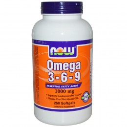 Omega-3-6-9 1000 мг Now Foods (250 гелевых капсул)