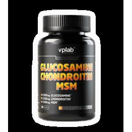 Средство для лечения суставов и связок Glucosamine Chondroitin MSM VPLab (90 таблеток)