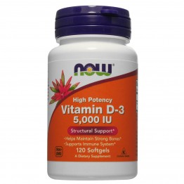 Витамин D-3 Now Foods 120 капсул (5000 мг)