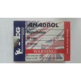 Anadrol PEG (Оксиметалон) 60 капсул (1 кап 25 мг)