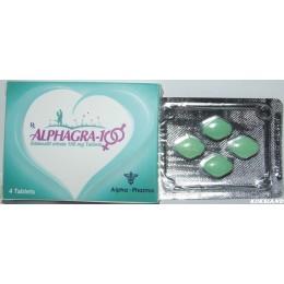 Виагра AlphaGra (Силданефил цитрат) Alpha Pharma 4 таблетки (1 таб 100 мг)