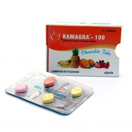 Виагра (силденафил) Kamagra-100 Chewable 100 мг 1 таблетка (4 таблеток)