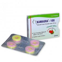 Виагра (силденафил) Kamagra-100 Polo 100 мг 1 таблетка (4 таблеток)