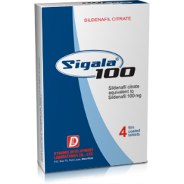 Sigala 100 (Силденафил) Dynamic Development 4 таблетки (1 таб 100 мг)