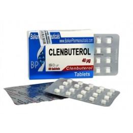 Clenbuterol (Кленбутерол) Balkan 100 таблеток (1 таб 40 мкг)
