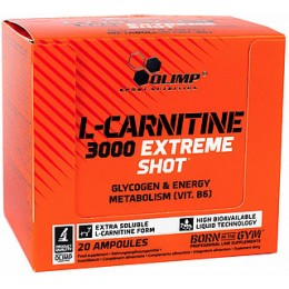 L- Карнитин Olimp L-Carnitine 3000 Extreme Shot (20 ампул по 25 мл)