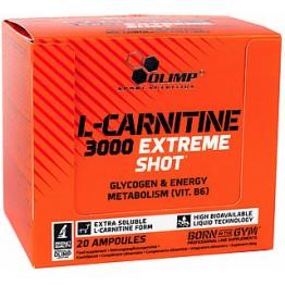 L- Карнитин Olimp L-Carnitine 3000 Extreme Shot (20 ампул по 25 мл)