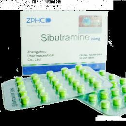 Sibutramine Hydrochloride (Сибутрамин) ZPHC 50 таблеток (1 таб 20 мг)